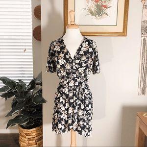 Zara Basic Floral Mini Dress ⏳